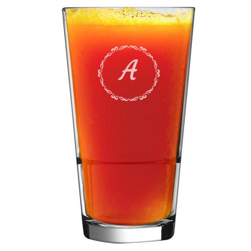 Graviertes Cocktailglas mit Initialen Kreis
