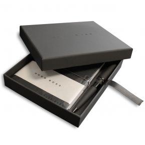 Hugo Boss Box mit A6 Notizblock und Stift mit Gravur