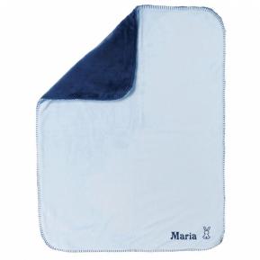 Decke Extra-Weich zweifarbig mit Stickerei