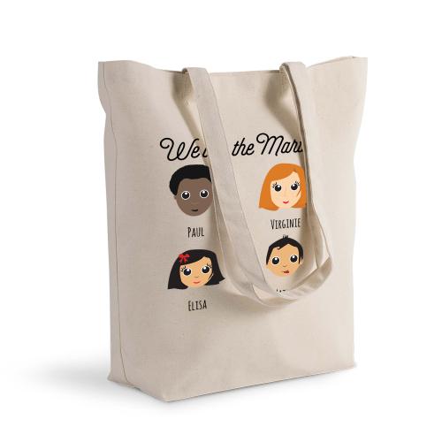 Einkaufstasche personalisiert We Are Family