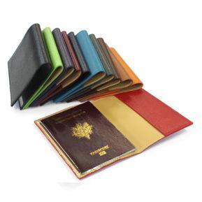Etui Leder für Reisepass mit Gravur