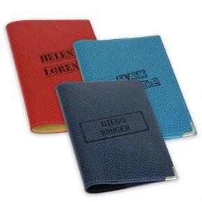 Etui Leder für Reisepass mit Stempel