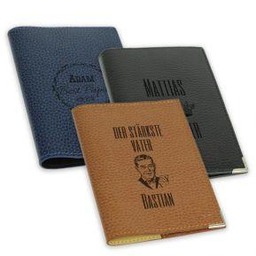 Etui Leder für Reisepass zum Vatertag