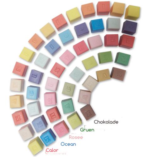 Farbtöne der Seife mit Gravur