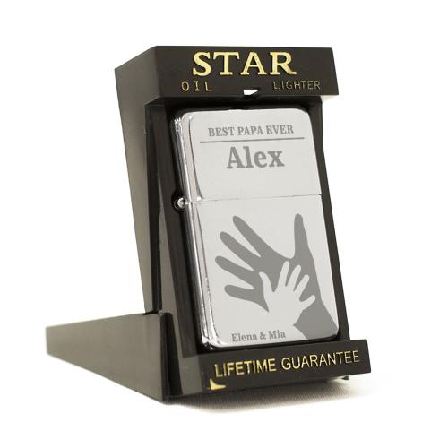 Feuerzeug Star Papas Hand