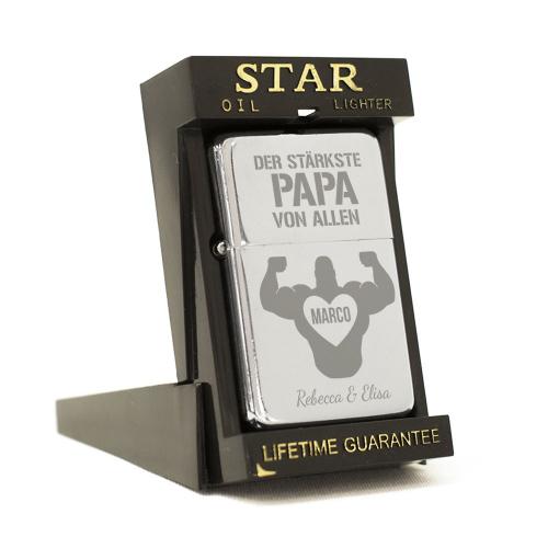 Feuerzeug Star Stärkster Papa