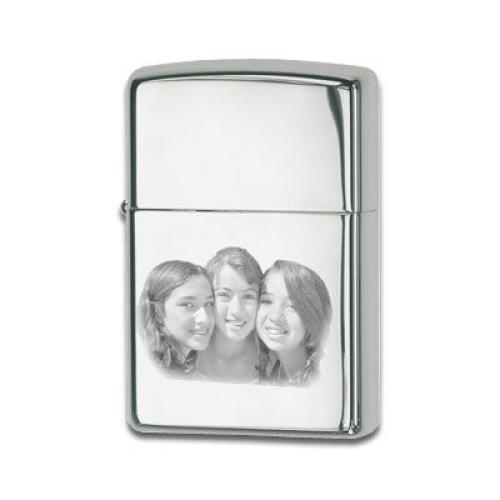 Zippo®-Feuerzeug mit Fotogravur chrome