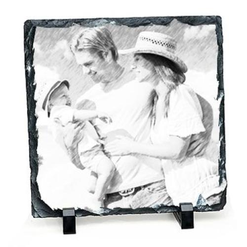 Foto auf Schieferplatte im Quadrat Artistisch
