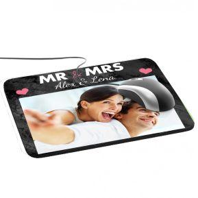 Foto-Mousepad Mr and Mrs