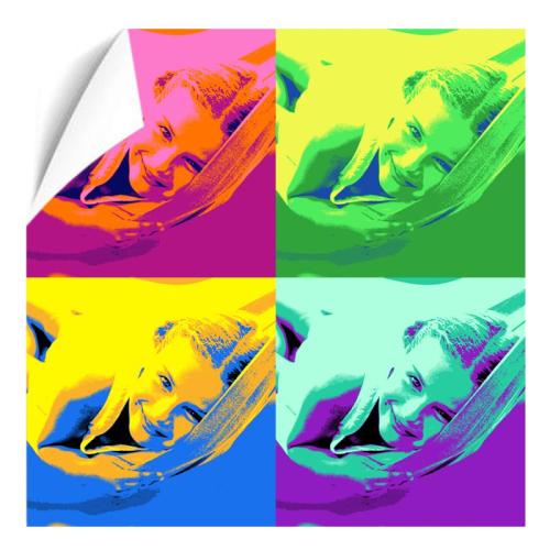 Fotoposter Pop Art Quadrat 4 Fotos