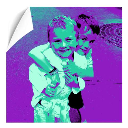 Fotoposter Pop Art Quadrat