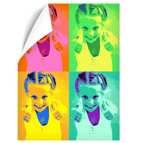Fotoposter Portrait Pop Art 4 Fotos