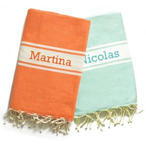 Traditionelles personalisiertes Fouta-Tuch