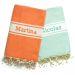 Foutas traditionell orange & eisblau