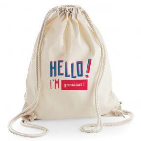 Freizeittasche personalisiert HELLO