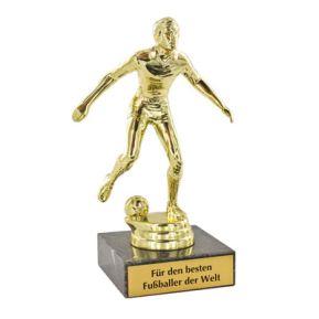 Fußballer Statue mit Gravur