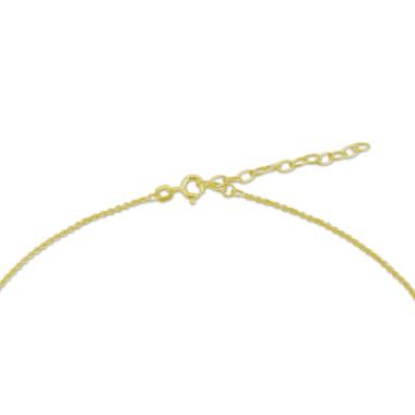Fußkette mit Namen - vergoldet