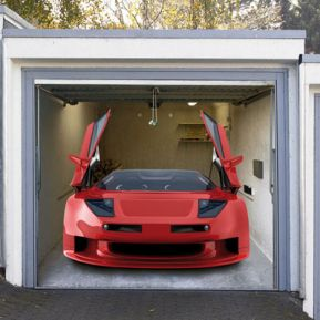 Garagentor Dekoplane Sportwagen