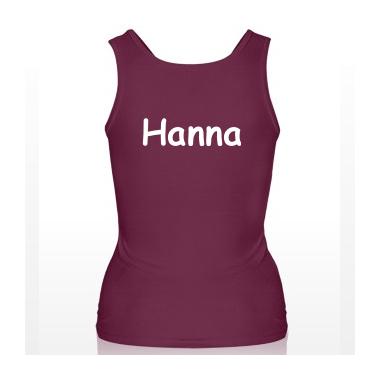 Trägershirt Damen personalisiert