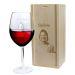 Rotweinglas mit Fotogravur