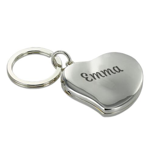 Gravierter Schlüsselanhänger Herz - doppelt