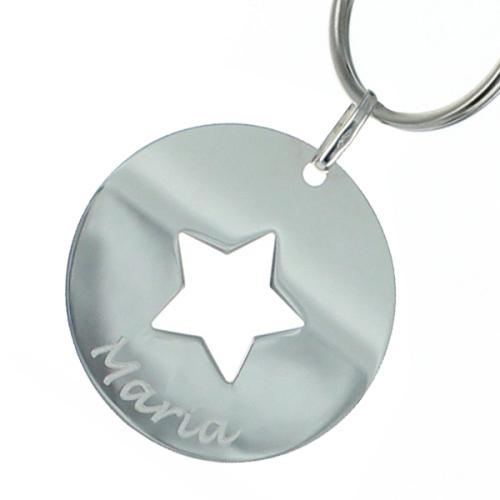 Gravierter Schlüsselanhänger - Stern