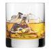 Graviertes Whiskyglas mit Initialen Arabesque