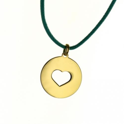 Halsband Herz Jeton vergoldet