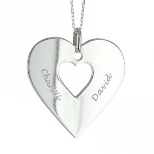 Halsband Herz aus Silber