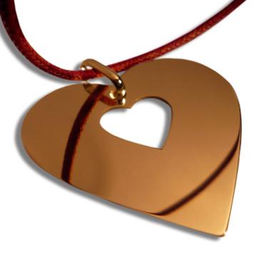 Halsband Herz vergoldet