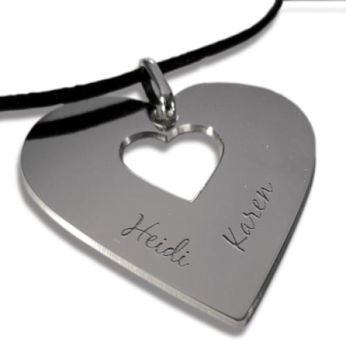 Halsband Herz mit Gravur
