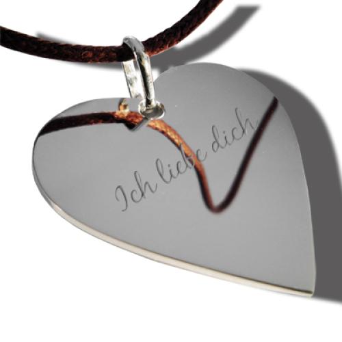 Halsband volles Herz silber