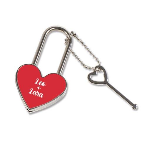 Personalisiertes Herzschloss Valentinstag