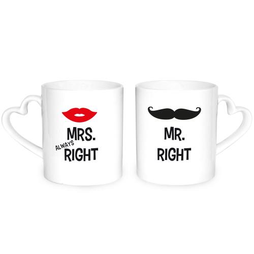 Herztassen Mr. Right & Mrs. Always Right