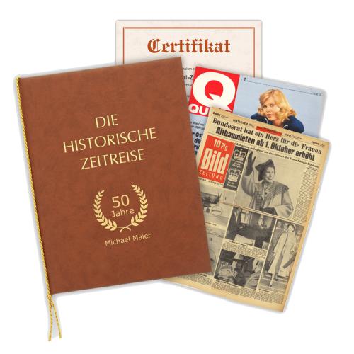 Historische Zeitungen mit Mappe