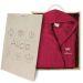 Bademantel pink in personalisierter Holzkiste