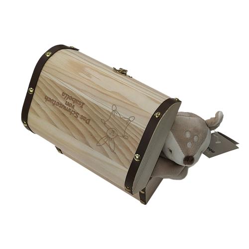 Holztruhe mit Schmusetuch Nattou