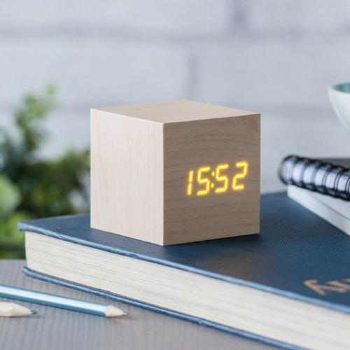Holzwecker Würfel Uhrzeit