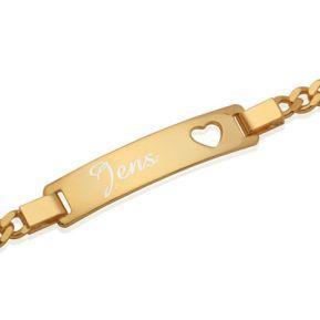 Armband Herz vergoldet