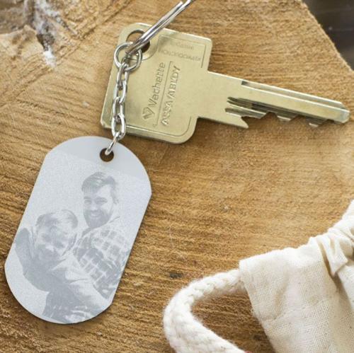 Schlüsselanhänger Platte graviert