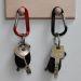 Karabiner-Schlüsselanhänger graviert mit schlüßel