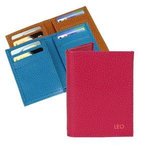 Personalisiertes Leder-Kartenetui Slim