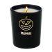 Kerze Halloween Kürbis an