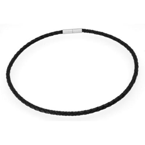 Halsband Leder schwarz