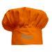 Kochmütze für Kinder orange