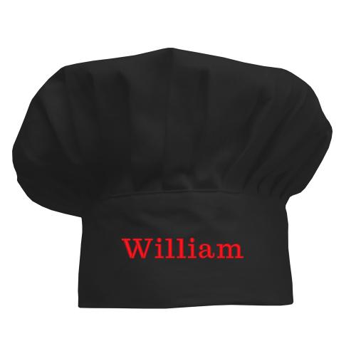 Kochmütze für Kinder schwarz