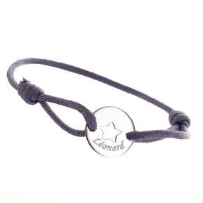 Kinderarmband Ajour-Stern mit Gravur