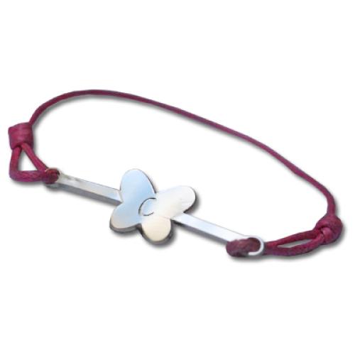 Kinderarmband Haarspange mit Gravur Schmetterling