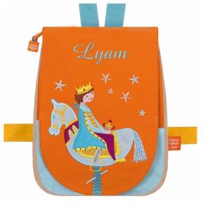 Kindergartentasche Prinz und Holzpferd mit Name