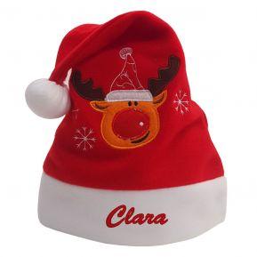Bestickte Weihnachtsmütze mit Motiv für Kinder